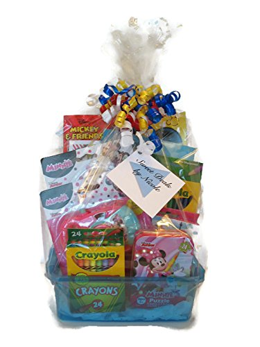 Sweet Deals by Nicole Kids Deluxe Gift Basket-Minnie Mouse Theme-Great for Easter, Valentine's Day or Birthdays