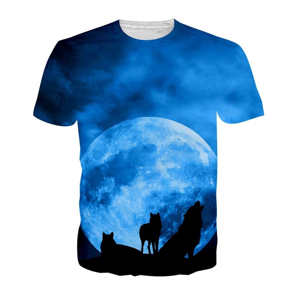 ZzSTX 3D T-Shirt Herrenbekleidung Sommer Hip Hop Kleidung Unisex Pullover T-Tops
