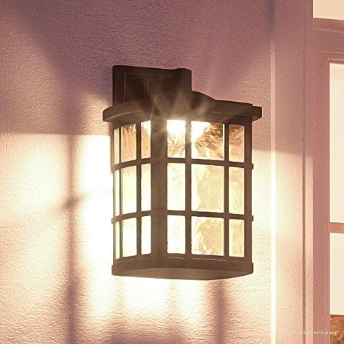Luxury Craftsman Outdoor LED Wall Light, Medium Size: 17