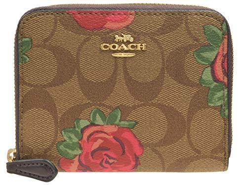 2344c1252083 (コーチ) COACH 財布 折財布 二つ折り ラウンドファスナー シグネチャー ミニ コンパクト 花柄