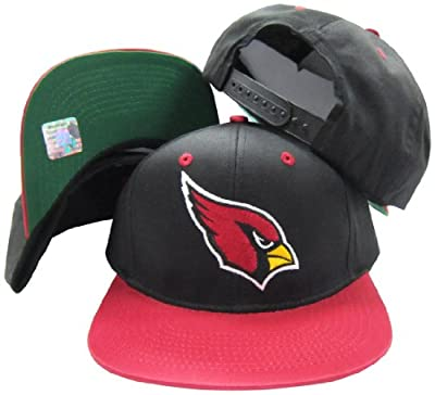 Arizona Cardinals Black/Red Two Tone Plastic Snapback Adjustable Plastic Snap Back Hat / Cap