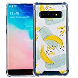 Dimaka Case for Samsung Galaxy s10,Cute Banana Fruit Design Case for Girls,Clear Transparent TPU Anti-Slip Drop Protective Cover for Samsung Galaxy s10 (Banana)
