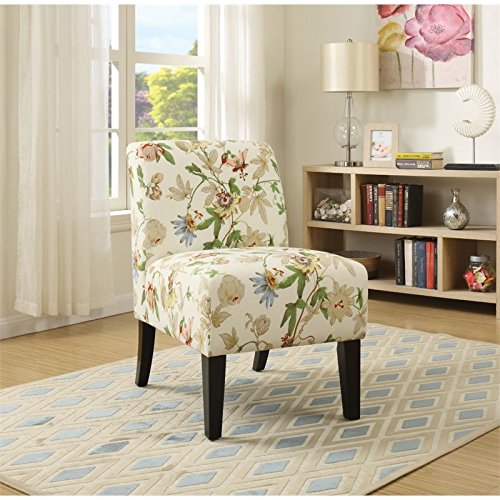 ACME Ollano Floral Fabric Accent Chair