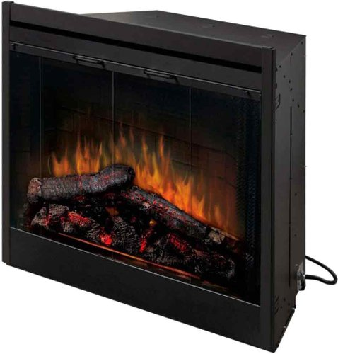Dimplex BFGLASS33BLK 33-Inch Single-Pane Tamperproof Glass Firebox Door