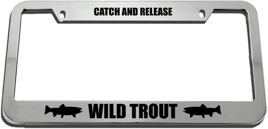 Automotive Chrome 2 Holes Speedy Pros Catch and Release Wild Trout ...