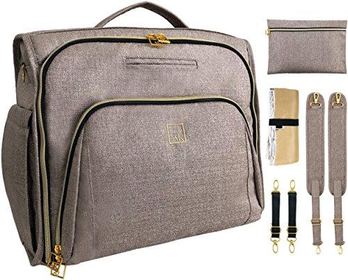 ArtAK Baby Diaper Backpack Bag and Messenger Crossbody | Wee