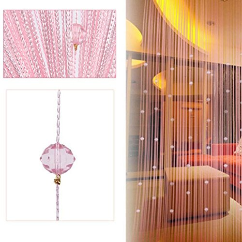 - FUT String Tassel Crystal Beads Curtain, Partition Door Curtain Beaded String Curtain Door Screen Panel Home Decor Divider for Bridal Chamber Room Beauty Salon Bedroom New home Hotel Decoration 1x2m