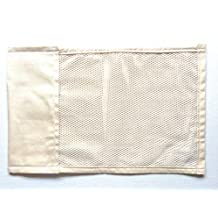 """Pillow Wallet Insert, 17""""x11"""" Tan Canvas, 2 Pocket, Machine Cold, Washable, Dryer Safe, Tumble Dry Low."""