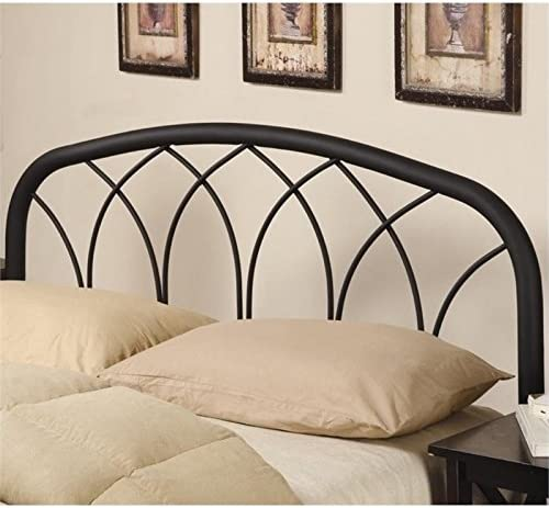 BOWERY HILL Full Queen Metal Headboard in Black