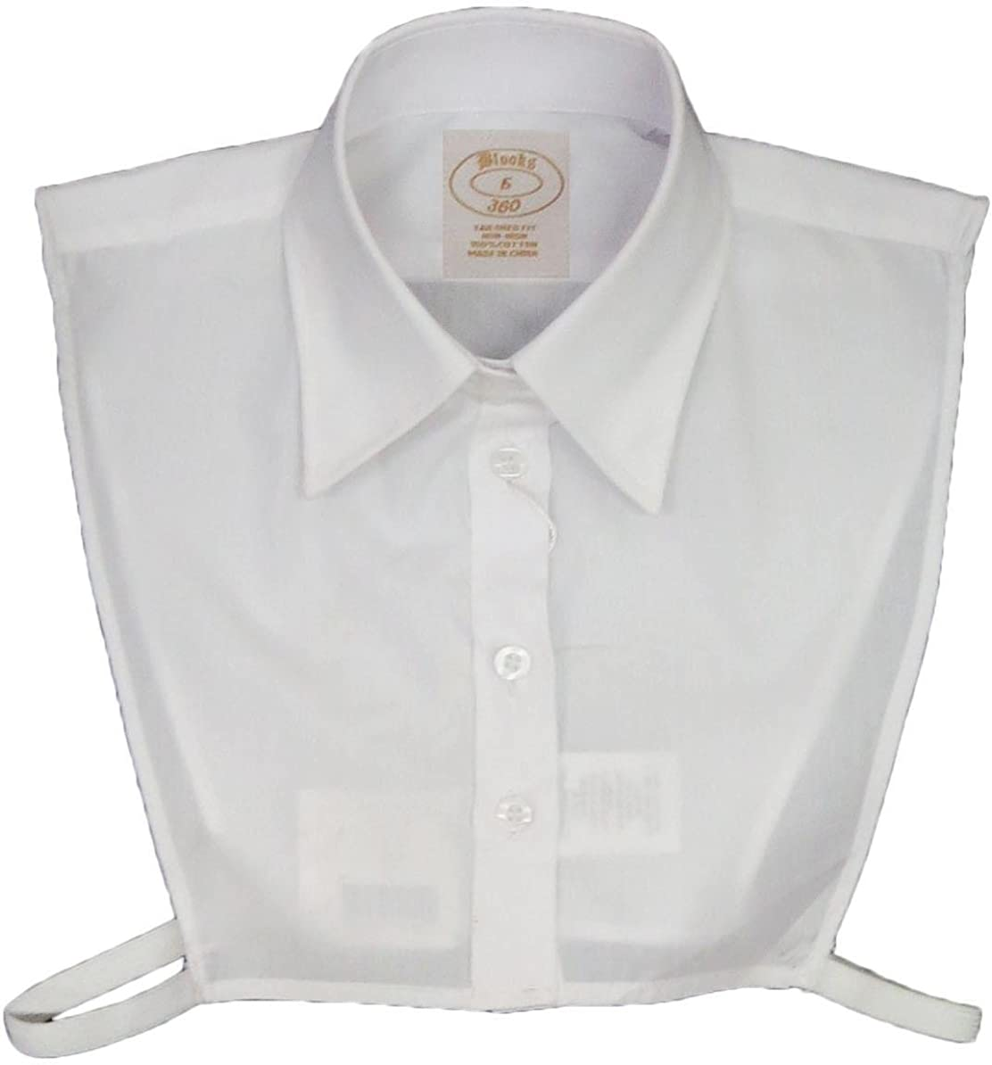 Half Shirt Blooks Girls Point Collar Pinpoint Oxford Dickey