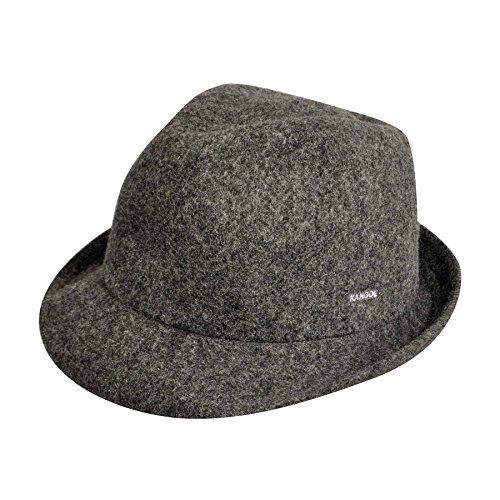 Fedora Kangol Hats (Kangol Unisex-Adult's Wool Arnold Fedora Hat, Dark Flannel, L)
