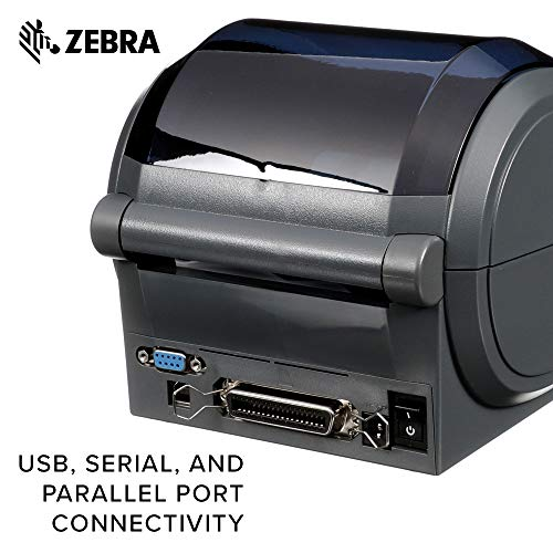 Zebra - GX420d Direct Thermal Desktop Printer for Labels, Receipts, Barcodes, Tags, and Wrist Bands - Print Width of 4 in - USB, Serial, and Parallel Port Connectivity (Includes Cutter) by Zebra Technologies (Image #4)