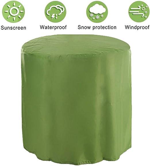 HYCZW Fundas Muebles Jardín, Protección contra la Nieve Impermeable Redonda Protectora Muebles Exterior Funda Muebles Jardín Impermeable Exterior 190T Oxford Resistente al Desgarro Ø47X47cm,Verde: Amazon.es: Hogar