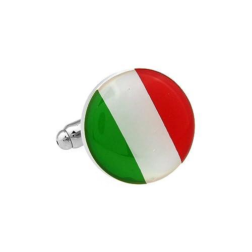 Bandera de la marca de la estrella con mancuernas de caja de la mancuerna: Amazon.es: Joyería