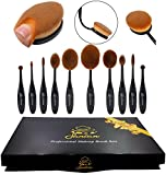 Sancan Professional 10-Piece Soft Oval Makeup Brush Set - Best Reviews Guide