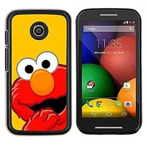 LECELL--Funda protectora / Cubierta / Piel For Motorola Moto E -- MOP ROJO DIVERTIDO --