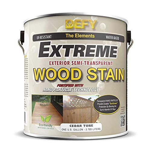 DEFY Extreme 1 Gallon Semi-Transparent Exterior Wood Stain, Cedar - Semi Solid Deck