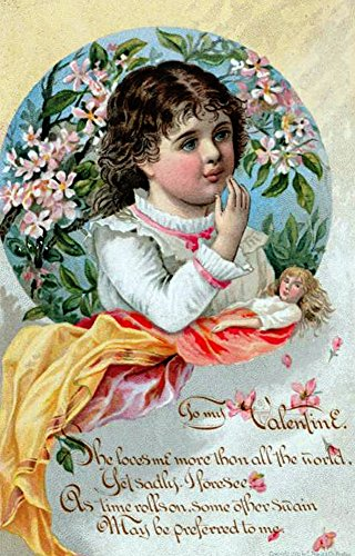 (Victorian Valentines Day Card 1881 Poster Print (18 x 24))