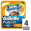 Gillette Fusion Proglide Power Cuchillas de Recambio para Maquinilla de Afeitar - 4 unidades