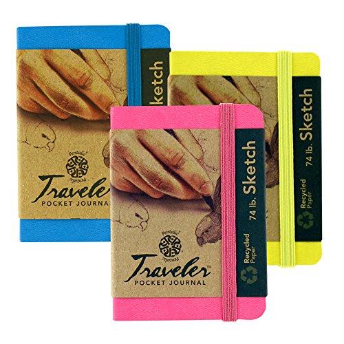 - Pentalic Travelers Pocket Journal 3 Pk Brights,White