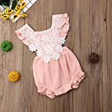 Newborn Baby Girl Romper Fly Sleeves Backless