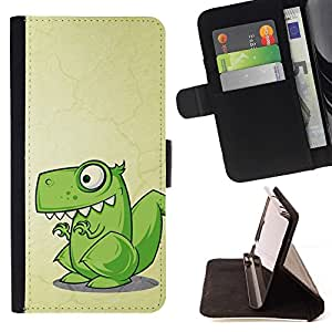 For Sony Xperia Z2 D6502 Cute Funny T-Rex Dinosaur Style PU Leather Case Wallet Flip Stand Flap Closure Cover