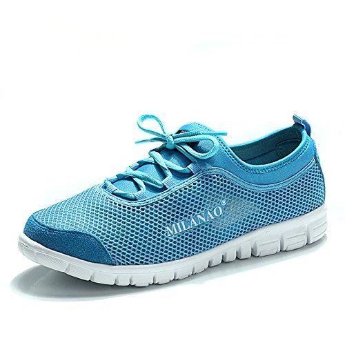 Milanao Lovers Frühling Sommer atmungsaktive Schuhe Blau