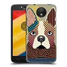 Official Lanre Adefioye Boston Terrier Dogs 2 Hard Back Case for Motorola Moto G (1st Gen)