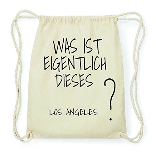 JOllify LOS ANGELES Hipster Turnbeutel Tasche Rucksack aus Baumwolle - Farbe: natur Design: Was ist eigentlich