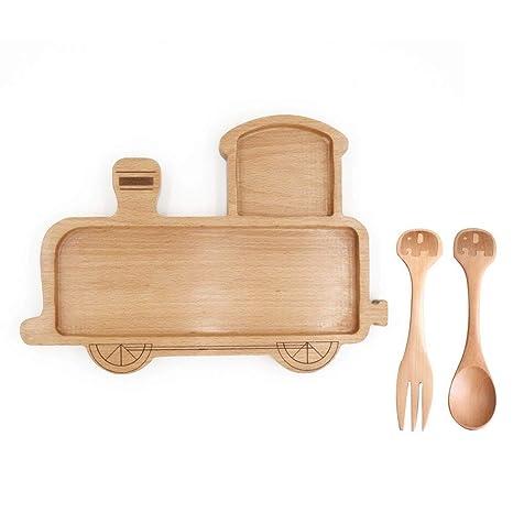 Amazon.com: Plato de porción de madera en forma de caja para ...