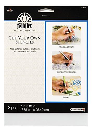 FolkArt Stencils, 30502E Cut Your Own (3 Pack) (Plaid Simply Stencil)