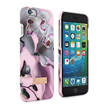 Official TED BAKER® SS16 iPhone 6 / 6S Case - Soft Feel Back Shell Case / Cover in Nude for Women / Girls with Flower Print for Apple iPhone 6S / Apple iPhone 6 - ETHEREAL POSIE - Nude