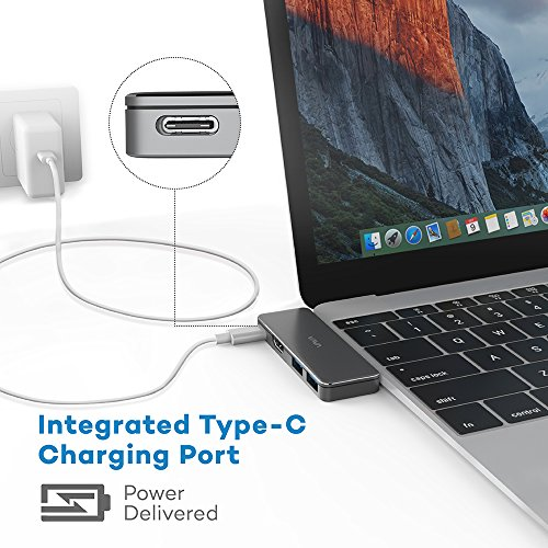 VAVA USB C Hub Adapter with Type C 3.1 Power Delivery, HDMI Port, 2 USB 3.0 Ports for MacBook Pro and Type C Windows Laptops by VAVA (Image #4)