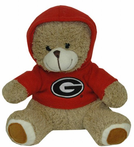 - NCAA Georgia Bulldogs Plush Bear with Logo Hoodie, Team Color