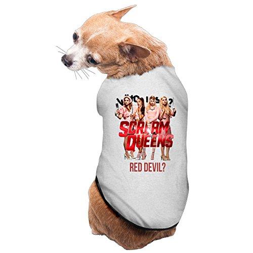 MEGGE Scream Team Queens Fashion Dog Shirts Gray S