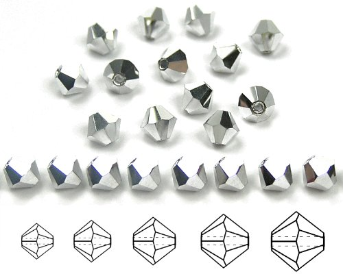 8mm Crystal Labrador Full, Czech MC Rondell Bead (Bicone, Diamond Shape), 12 pieces