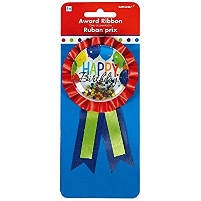 """Amscan 210401 Award Ribbon Party Favor, 5 3/4"""" x 3 1/8"""", Multi Color: Kitchen & Dining"""