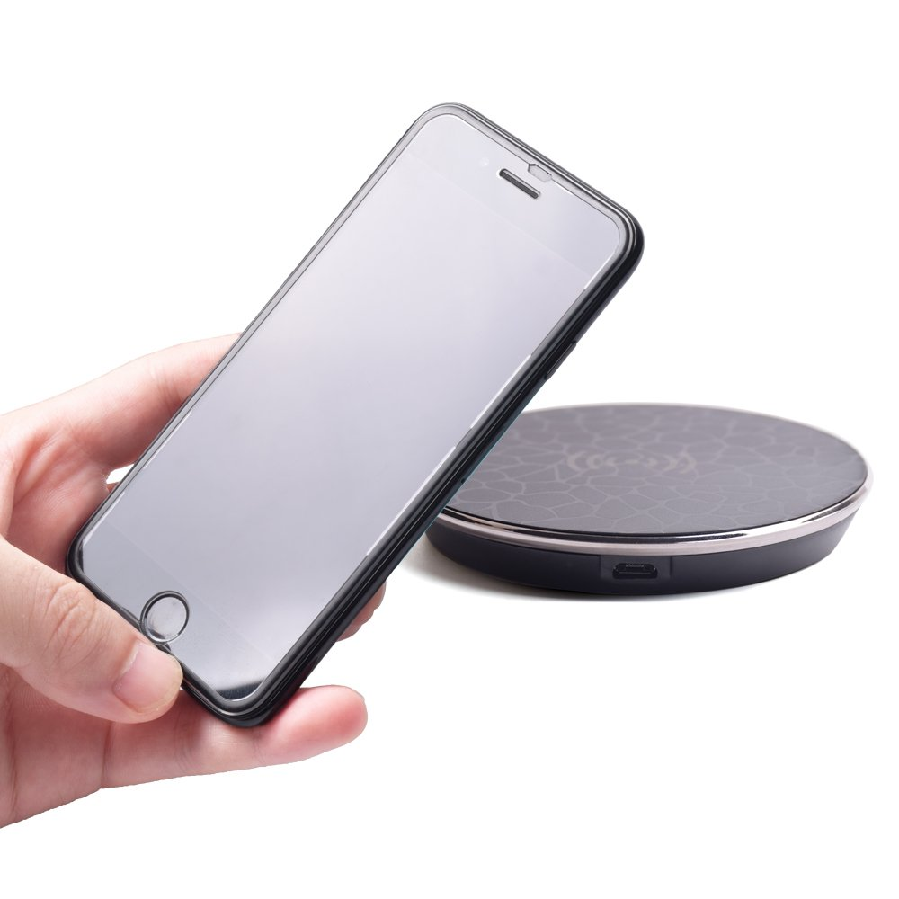 Fast Wireless Charger,Y Chen QI Wireless Charging Pad Stand for iPhone 8/8plus iPhone X Nokia,for Samsung Galaxy Note 8 S8, S8 Plus, S7, S7 Edge, S6 Edge Plus, Black