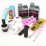 Nail Art Start Kit Acrylic Liquid Powder Nail Brush Pen Nail Files Nail Forms Remover Full Set Brand NEW