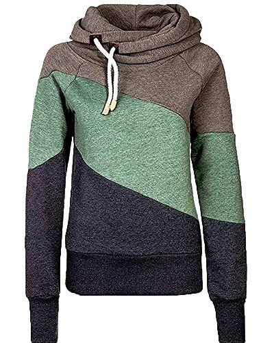 Invernale Maniche Lunghe Dimensione Con Cappuccio Medium Grigio Felpa Oudan colore A Cachi qYH6wWZ