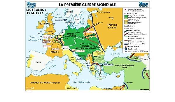première guerre mondiale carte La Première Guerre mondiale (Cartes murales histoire) (French