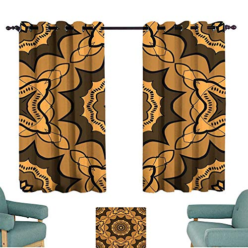 Warm Family Exquisite Curtain Seamless Art Deco Floral Pattern with Modern Style Ornament on Color Background for Wallpaper Cover Book Fabric scrapbooks Suitable for Bedroom Living Room Study, etc.