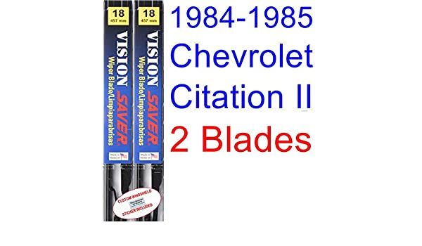 Amazon.com: 1984-1985 Chevrolet Citation II Replacement Wiper Blade Set/Kit (Set of 2 Blades) (Saver Automotive Products-Vision Saver): Automotive