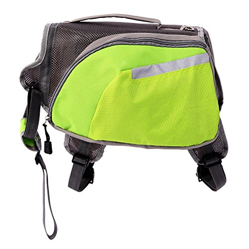 CutePaw Adjustable Dog Pack Backpack Saddlebag Harness Carrier Hound Daypack by CutePaw