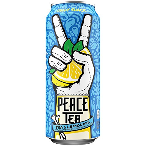 Peace Tea Caddy Shack Black Tea Lemonade Drink, 23 fl oz, 12 Pack