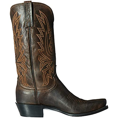 85%OFF Lucchese Cole Men Square Toe Leather Western Boot