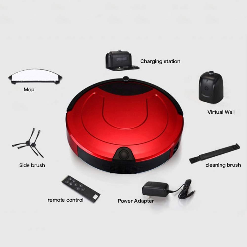 ZLC Aspirador Robótico, Auto Inteligente De Carga Y Anti Colisión/Gota Sensor De Succión Fuerte para Piso Duro Y Alfombras: Amazon.es: Deportes y aire libre