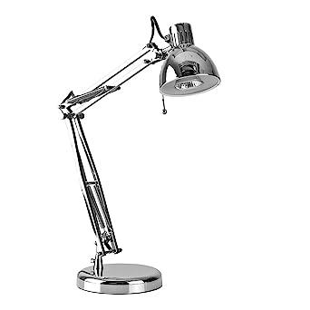 Modern Chrome Reading Task Adjustable Desk Lamp