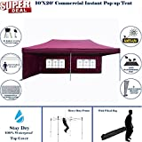 10'x20′ Pop UP Canopy Wedding Party Tent Instant EZ UP Canopy Maroon – F Model Commercial Frame By DELTA Review