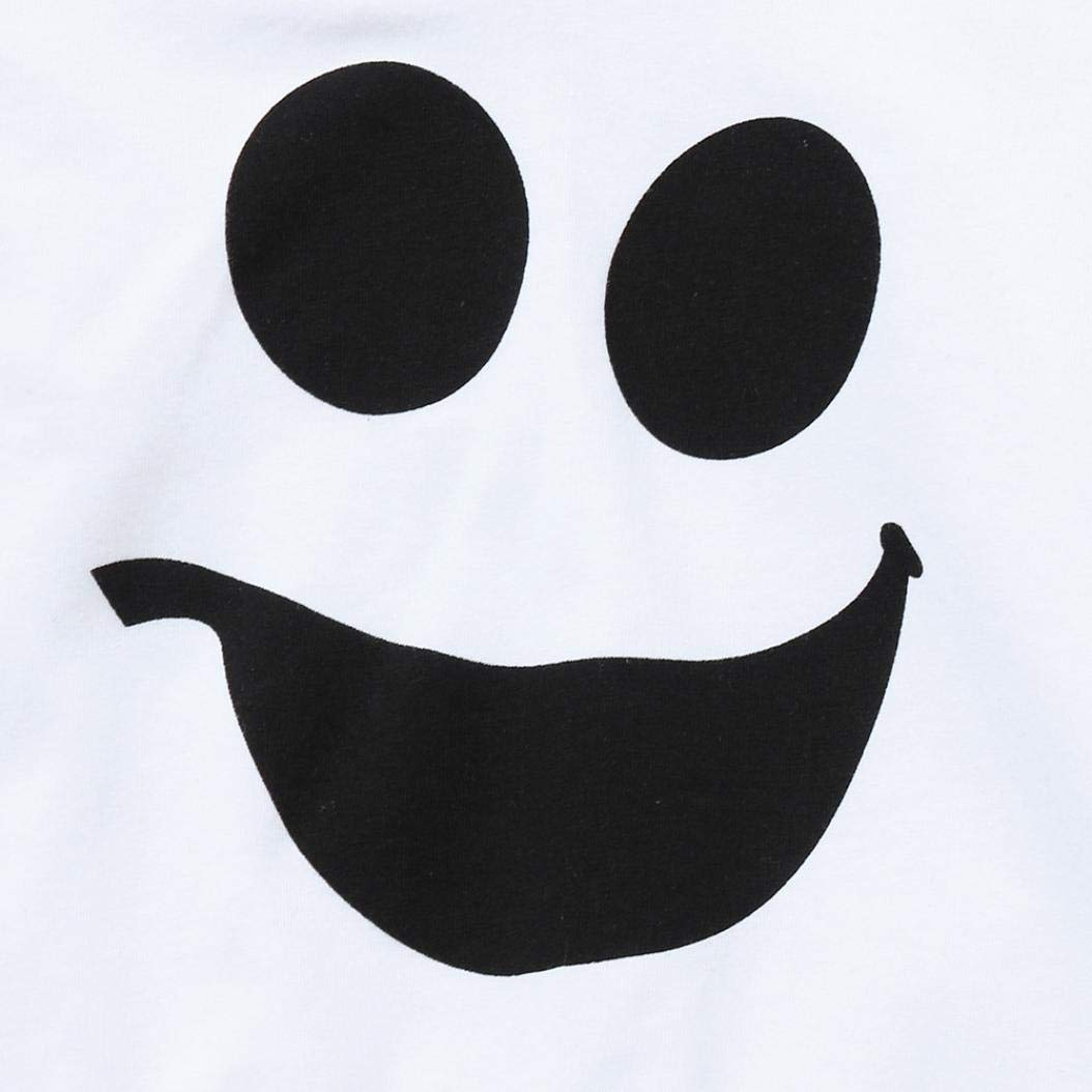 ❤ 2pcs Neonato Completini ❤ Jimmackey Fantasma Stampa Felpa con Cappuccio Cime Striscia Pantaloni Bambino Abiti Set